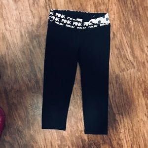 PINK VS cropped leggings, XS